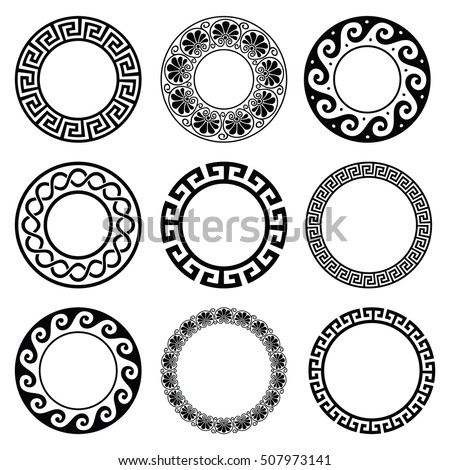 ancient greek round pattern  ...