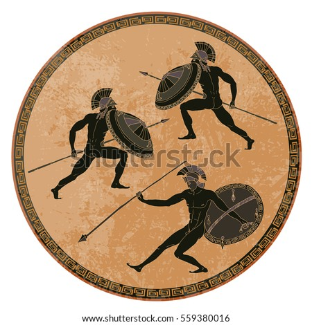ancient greek soldiers black