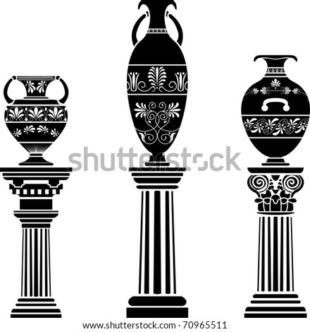 Ancient Greek Vase On Column 70965511 on italian architecture