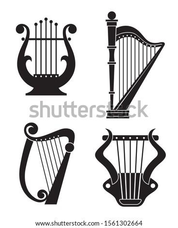 Amazon.com: Simple Clipart Musical Instrument Silhouette Cartoon Vinyl  Decal Sticker (4