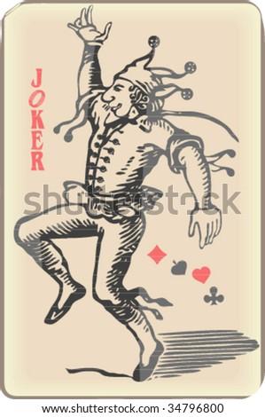 Ancient joker play card