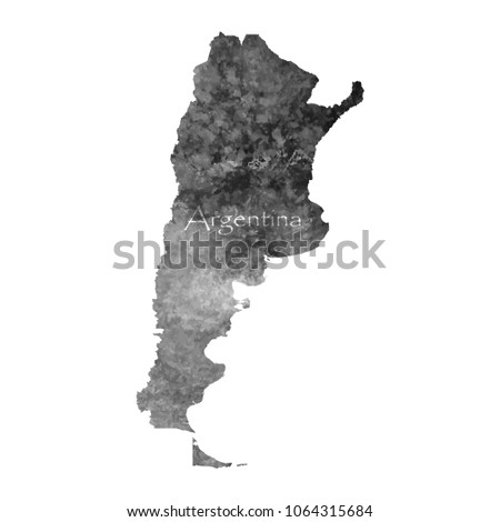 ancient map of argentina old