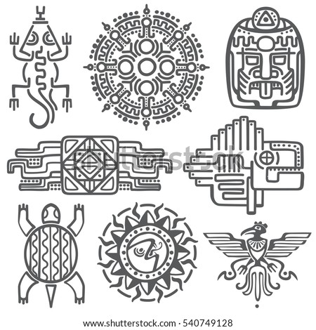 ancient mexican vector...