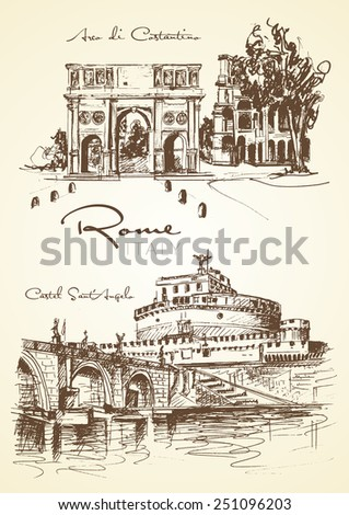 ancient monument of rome  the...