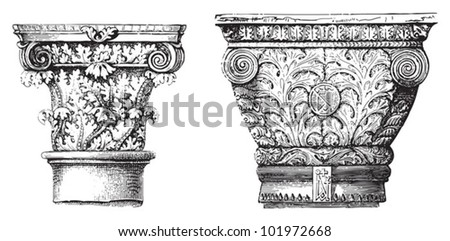 ancient ornamental column  ...