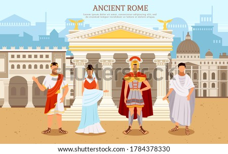 ancient rome flat poster with