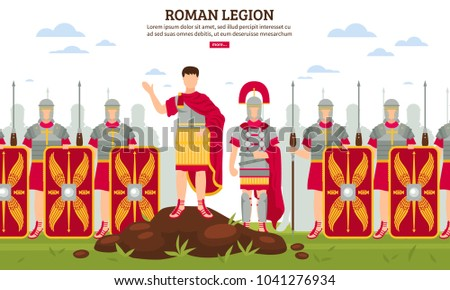 ancient rome legionary flat