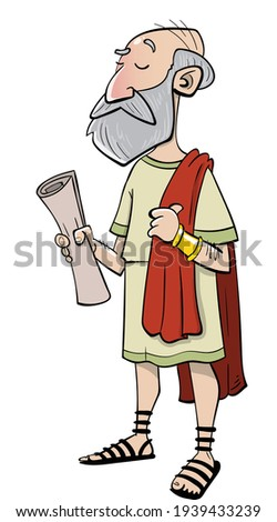 Ancient rome wise old senator doctor or envoy Сток-фото ©