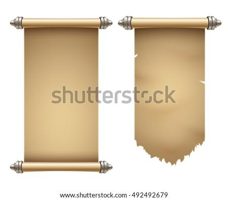 ancient scrolls illustration...