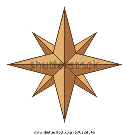Ancient sign of wind rose icon. Cartoon illustration of ancient sign of wind rose vector icon for web design #690124546