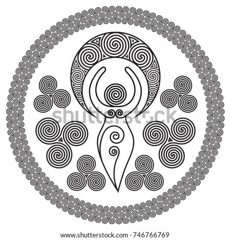 ancient spiral goddess  this