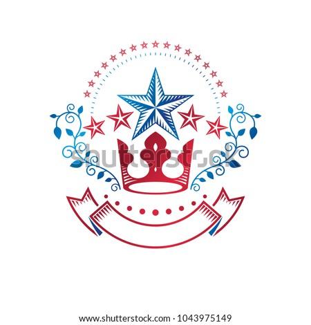 ancient star emblem decorated