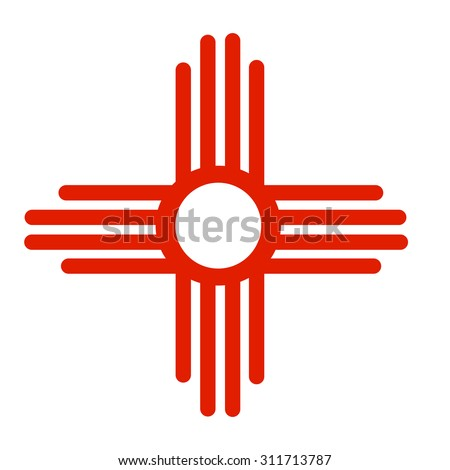 Ancient Sun Symbol of the Zia; a Native American tribe. This symbol appears on the American flag of New Mexico.