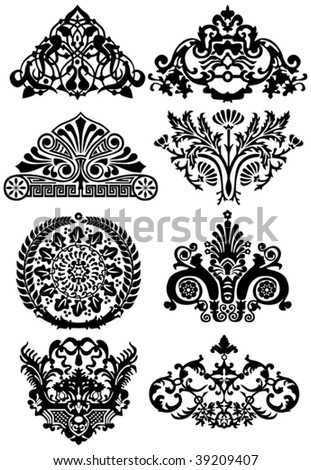 stock vector : ancient tattoos and ornaments