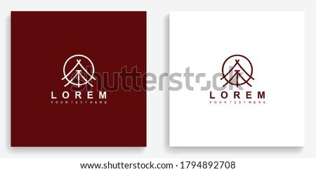 Ancient tribal tents logo. Modern logo icon template vector design