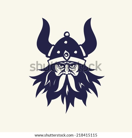 ancient viking head emblem for