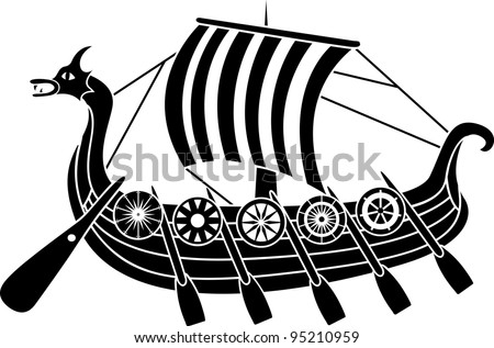 Vector Viking Ship - Download Free Vector Art, Stock Graphics & Images