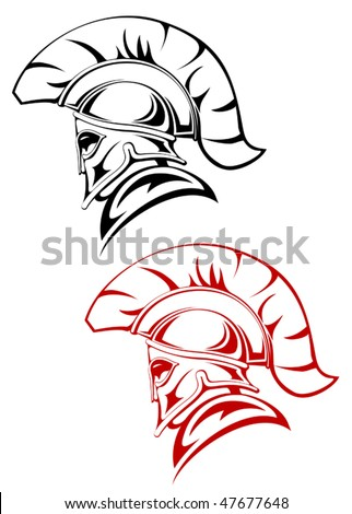Ancient warrior symbol as a concept of security or power - also as emblem. Jpeg version is also available