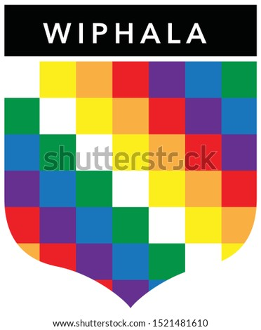 Andes Wiphala Flag Badge Emblem #1521481610