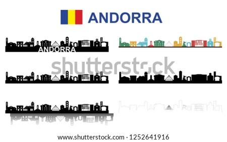 Andorra la vella Silhouette