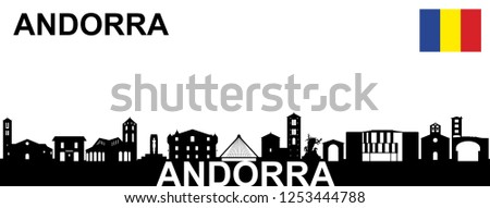 Andorra, Silhouette on white