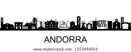 Andorra, Skyline on white