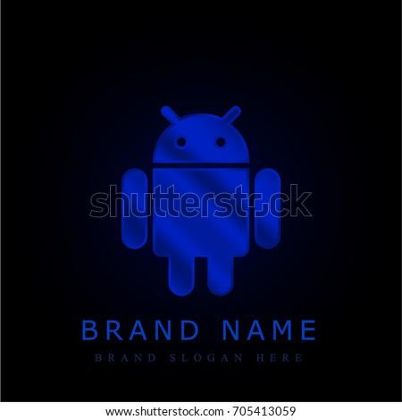 android blue chromium metallic