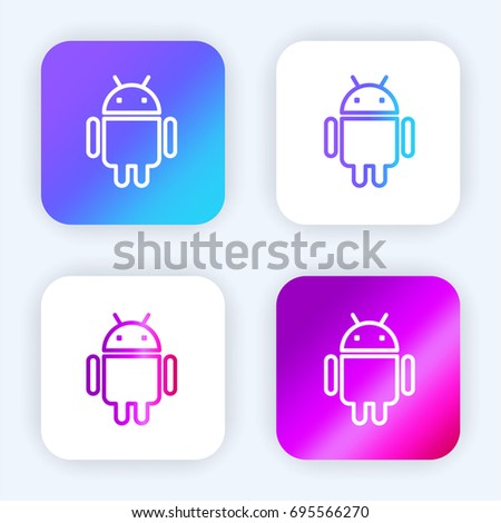 Android bright purple and blue gradient app icon