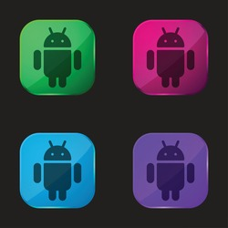 Android four color glass button icon