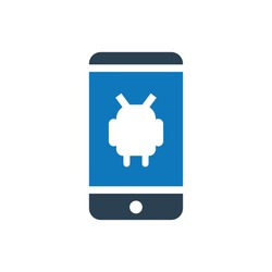 Android glyph icon vector - ui icon vector