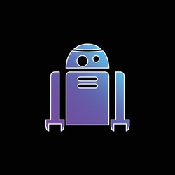Android Robot blue gradient vector icon