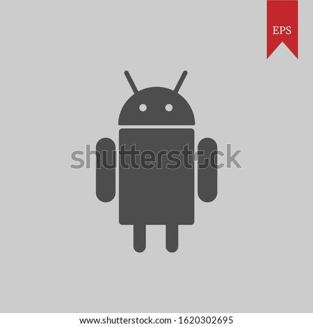 Android vector graphic illustrations, which can be used for icons, web logos, profile icons, even application logos
