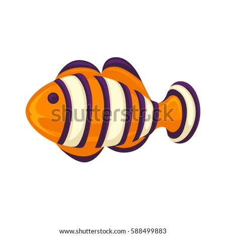 anemone fish isolated on white
