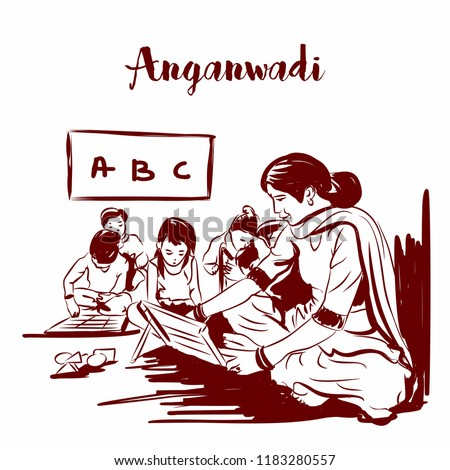 anganwadi rular indian school