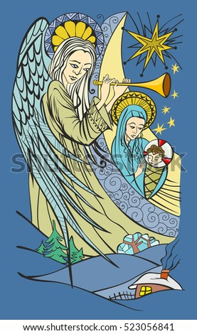 angel and blessed virgin mary
