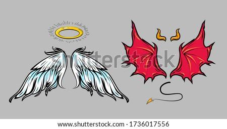 angel and demon cartoon comic