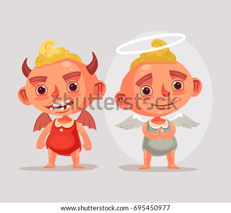 angel and devil children