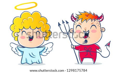 angel and devil good and bad