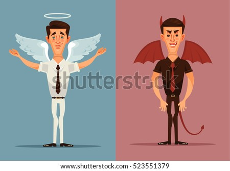 angel and devil man character