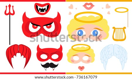 angel and devil printable