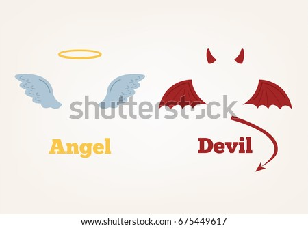 angel and devil suit elements
