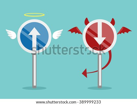 angel and devil symbol vector