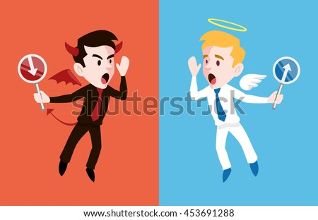 angel and devil vector flat