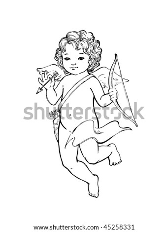 Angel baby vector illustration