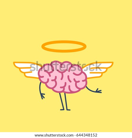 angel brain vector concept