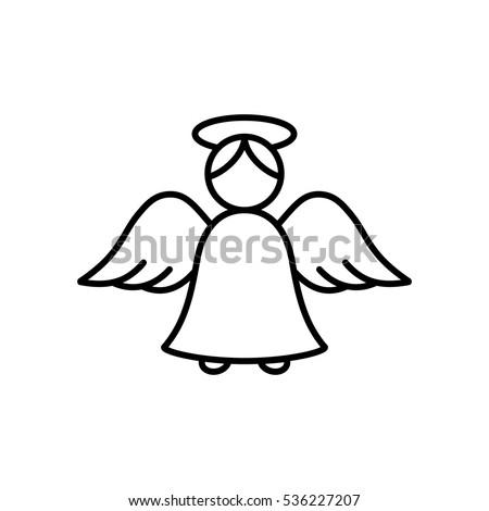 angel cupid minimalistic xmas