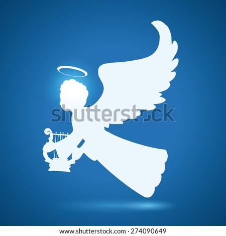 angel design over blue