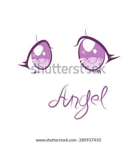 angel eyes in anime style