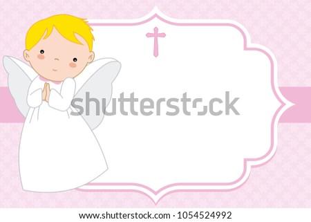 angel girl christening or