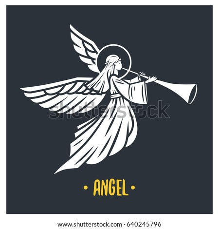 angel god vector illustration